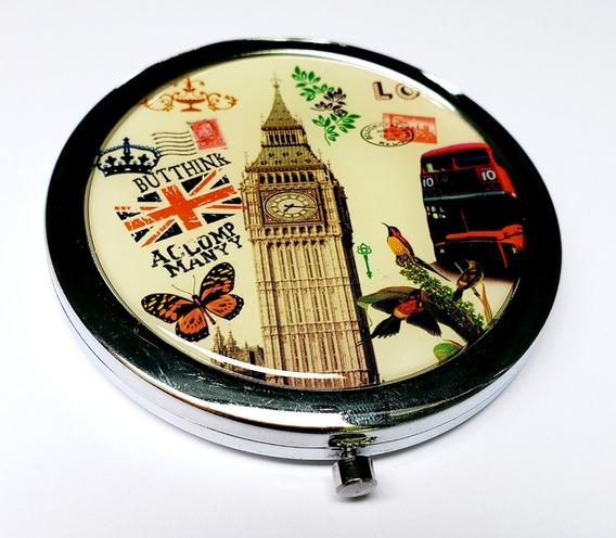 Espejo Para Bolso Dama Big Ben Londres London Corona Metal