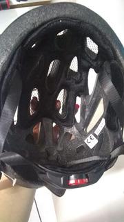 Capacete Ciclismo Kripta - Preto/branco - G/m