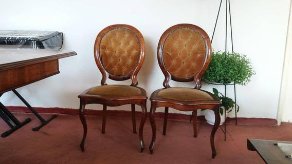 6 Cadeiras Medalhão Em Jacaranda Maciço, Buffet E Mesa!