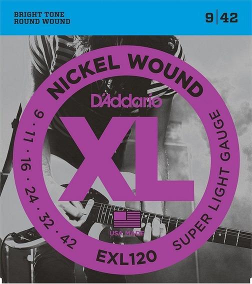 Daddario Exl120 Encordoamento P/ Guitarra 09 - Original Usa