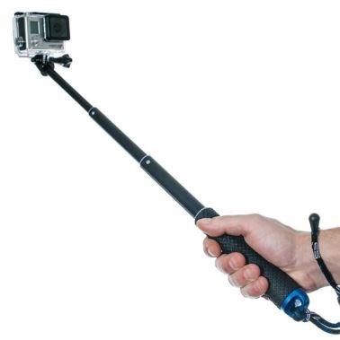 Pau De Selfie Extensível Para Suporte De Câmera De Ação
