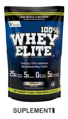 100% Whey Elite 5lbs Proteína - L a $30580