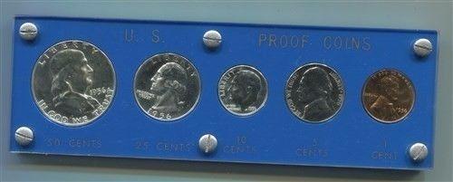 1956 Moneda Plata Proof Americano Eeuu Acabado Espejo