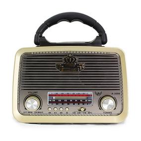 Radio Retro Antigo Vintage A-3199 Altomex Fm Am Usb Sd Mp3