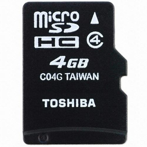 Cartão Micro Sd 4 Gb Classe 4 Toshiba Sem Adaptador