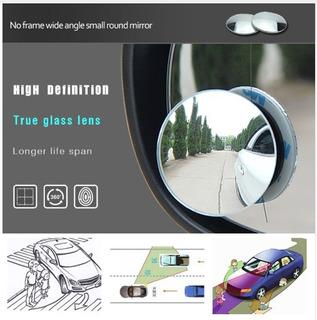 Par De Espelhos Auxiliar Convexo Para Carros Motos Vans