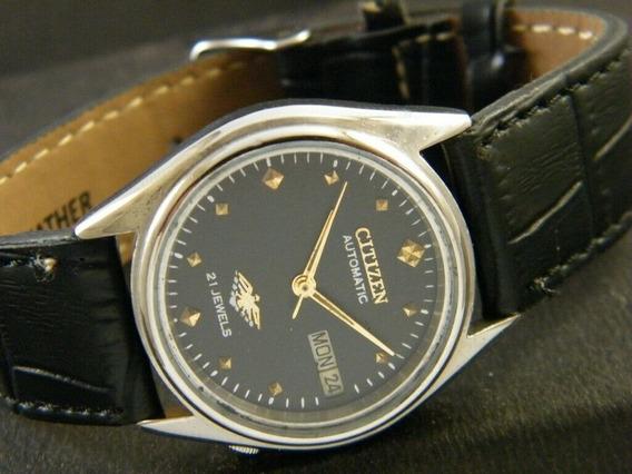 Reloj Citizen Automatico Vintage Piel 32 Mm 62