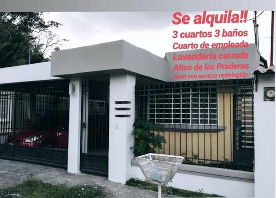 Alquilo Hermosa Casa En Altos De Las Praderas San Antonio-cr