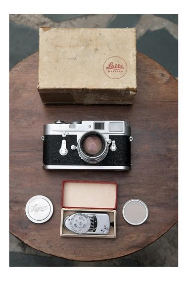 Câmera Leica M2 + Summicron 50mm F2 Colapsável E Acessórios