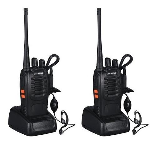 Pack 2 Radio Portátil Baofeng Uhf Manos Libre Ml001365