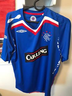 Camisa Time De Futebol Glasgow Rangers Umbro Original