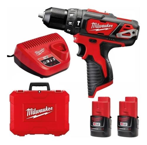 Imagen 1 de 9 de Taladro Atornillador Percutor Batería 12v Milwaukee 2408 Env