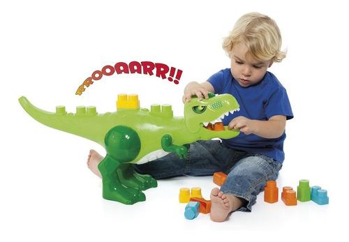 Dinossauro Dino Jurassic Baby Land Com 30 Blocos Cardoso