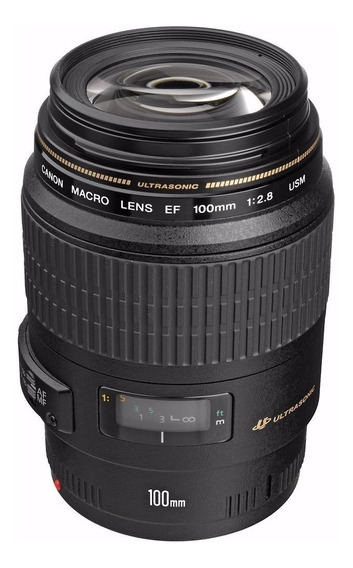 Lente Canon Ef 100mm F/2.8 Macro Usm Dentista Nfe