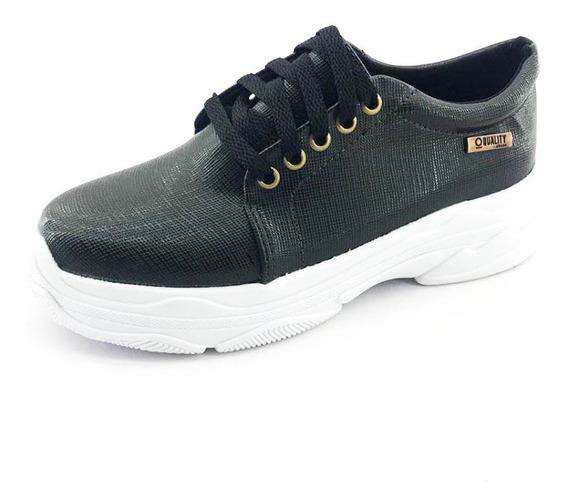 Tênis Quality Shoes Feminino Chunky Preto
