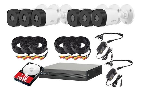 Kit 6 Cámaras 1080p Dahua Video Vigilancia Dahua 1 Tb