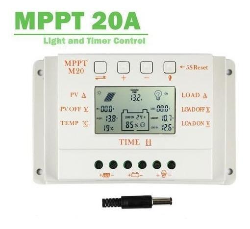 Controlador Mppt 20a Lcd Carregador Solar 12 V 24 V