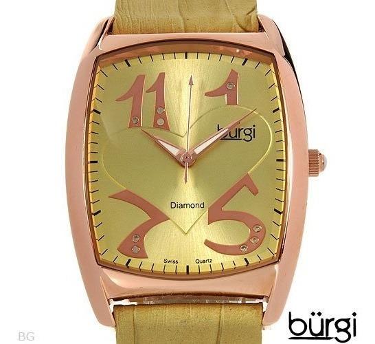 Reloj Bürgi Con Diamantes Original De Dama 02232636