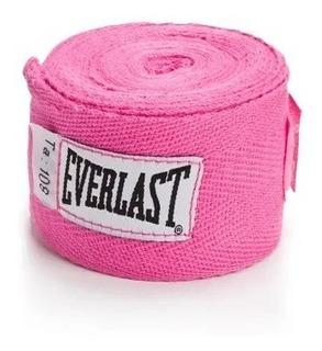 Bandagem Elástica De 2,74 Metros Everlast Pink Em Promoção