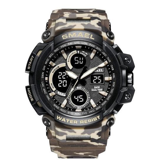 Relógio Masculino Smael Militar Esportivo Digital Original