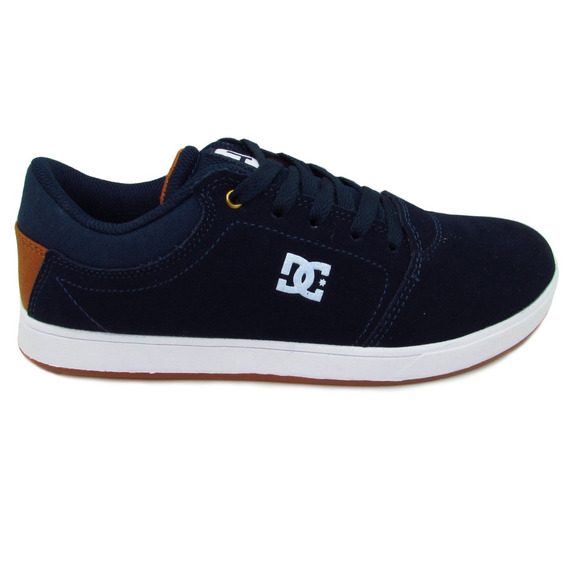 Tenis Dc Shoes Youth Crisis Adbs100209 Nwh Navy White Gamuza
