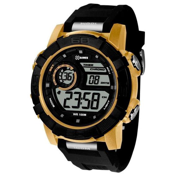Relógio X-games Masculino Xmppd527 Bxpx Preto/dourado (nf)
