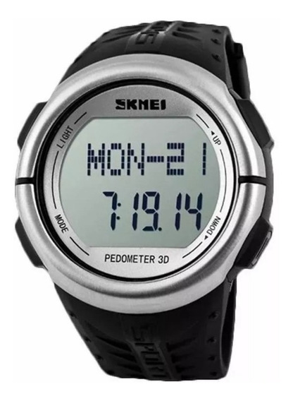 Relogio Monitor Cardiaco Original Skmei Pedômetro + Caixinha