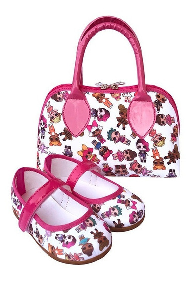 Kit Sapatilha E Bolsa Lol Surprise Pink Boneca Luxo