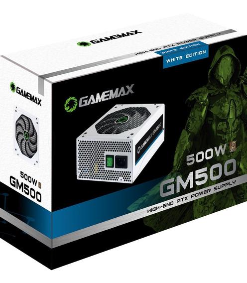 Fonte Gamemax Gm500 Branca 80 Plus Bronze 500w