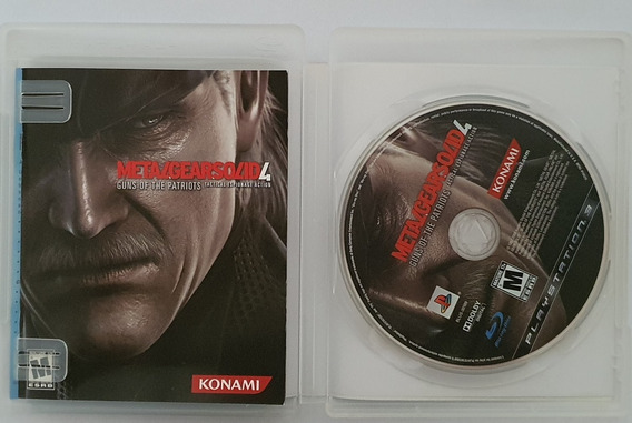 Jogo Ps3 Playstation 3 Metal Gear Solid 4