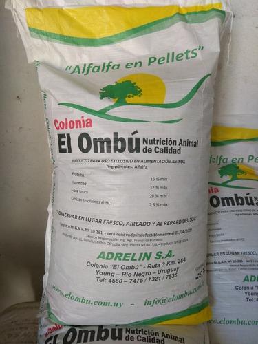 Alfalfa En Pellets Colonia El Ombú X 25 Kg