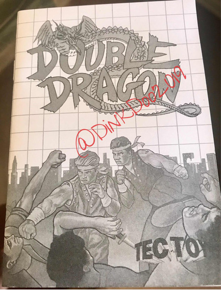 Manual Master System - Double Dragon - Repro