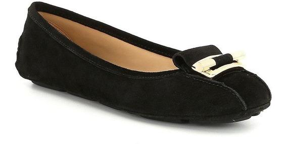 Zapatos Michael Gloria Suede Negro Con Dorad- Envio Incluido