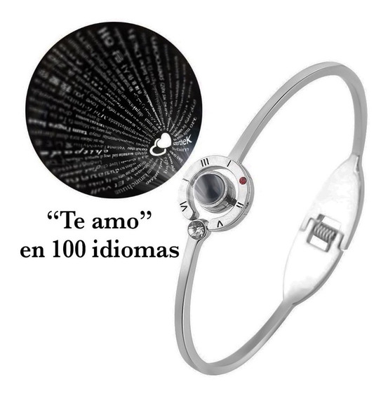 Pulsera O Collar Te Amo 100 Idiomas I Love You Acero Oferta
