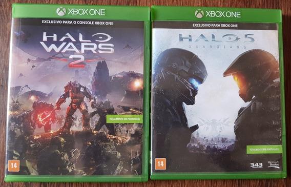 02 Jogos Mídia Física Xbox One - Halo 5 + Halo Wars 2