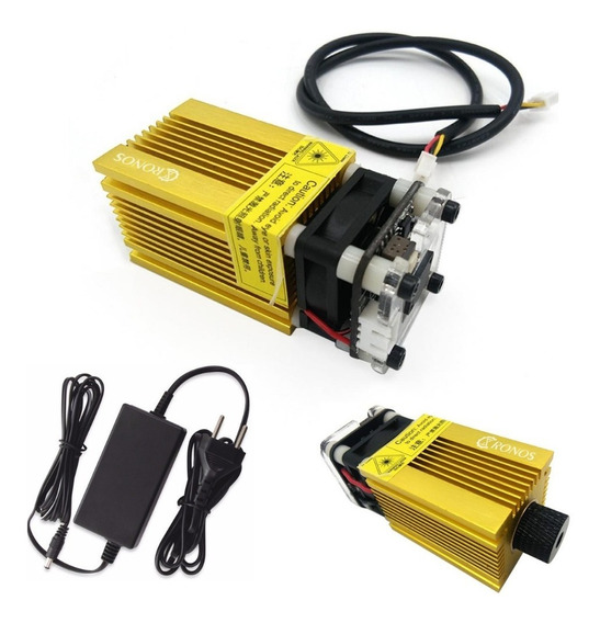 Laser 2500mw 445nm 12v Para Gravação Com Fonte *121601