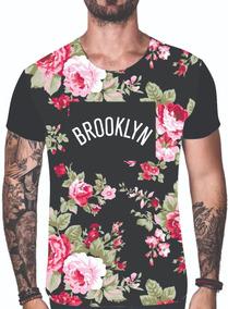 Kit 4 Camisetas Blusas Floral Moda 2019 Estampadas Verão