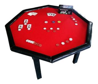 Mesa De Poker ¡excelente Terminacion! Mdf ~ Laqueada