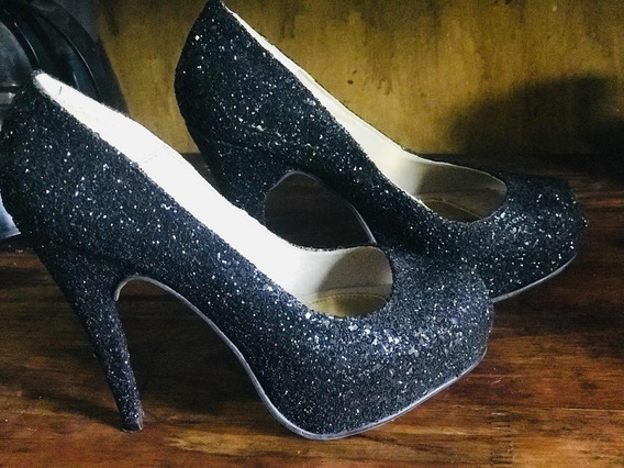 Zapatos De Vestir Brillosos - 1 Uso ! Impecables !