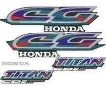 Kit Adesivo Faixa Honda Titan 97 Moto Cor Azul .