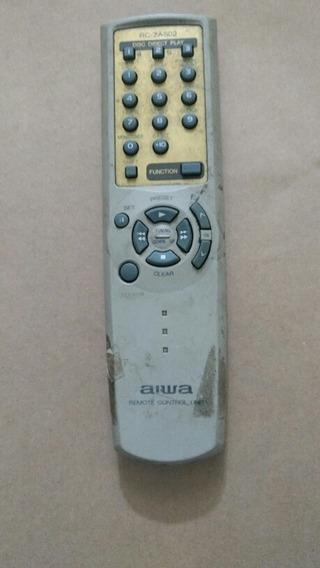 Controle Remoto Som Aiwa Rc-zas02 Original No Estado