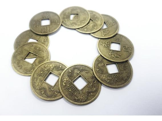 Monedas Feng Shui X10 Atrae Suerte Importado De La China