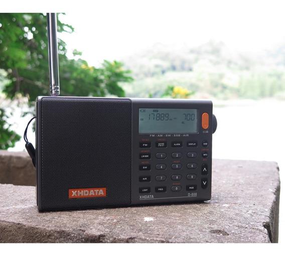Xhdata D-808 Rádio Multi-banda Ssb Rds (aviação Piloto)
