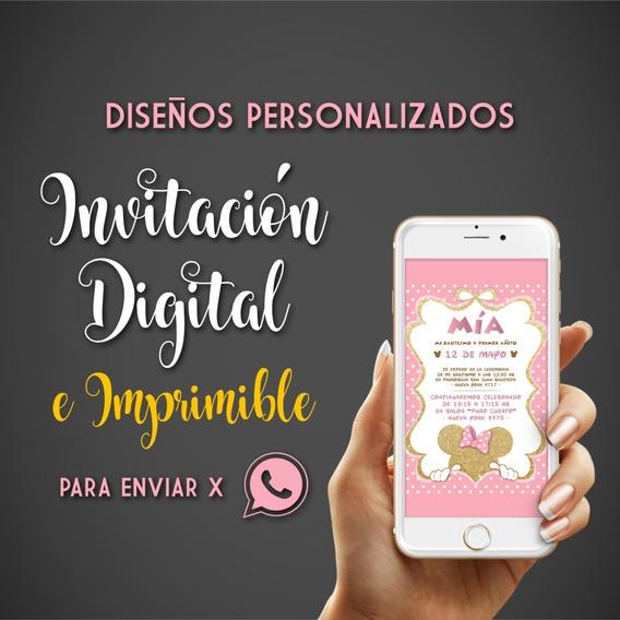 Invitación Digital Virtual Whatsapp Cumple Infantil, 15 Años