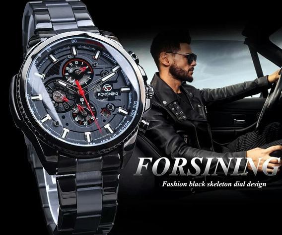 Relógio Masculino Automático Preto Original Barato Promoção