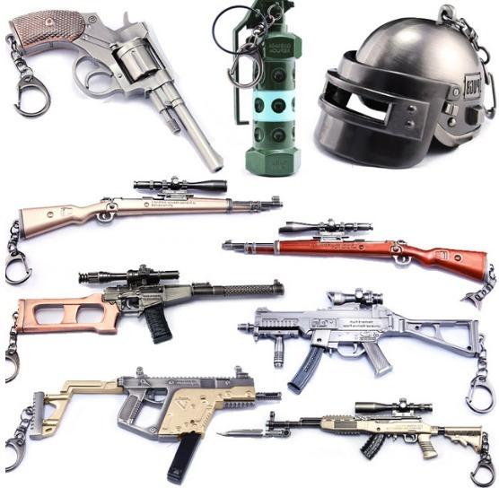 10 Armas Kar98k Llaveros Free Fire Pubg Scar-l Envio Gratis