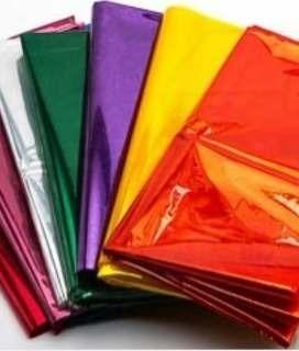 Papel Celofan Colores Surtidos Precio X 5 Unidades