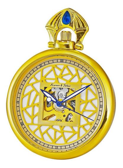 Relógio De Bolso Mecânico Personalizado Criativo Oco De Liga