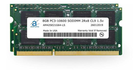 Memoria Ram 16gb Adamanta (2x8gb) Upgrade Compatible Para Apple iMac Macbook Pro Mac Mini Ddr3 1333mhz Pc3-10600 Sodimm