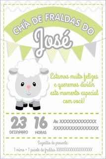 Convite Ovelhinha Digital - Chá De Bebê Ovelha